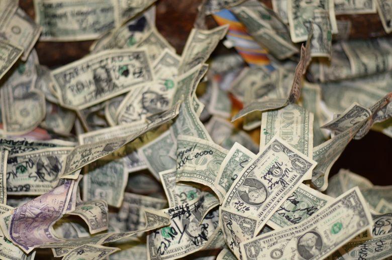 キャッシュバックされる大金