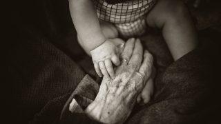 大好きな祖母の手